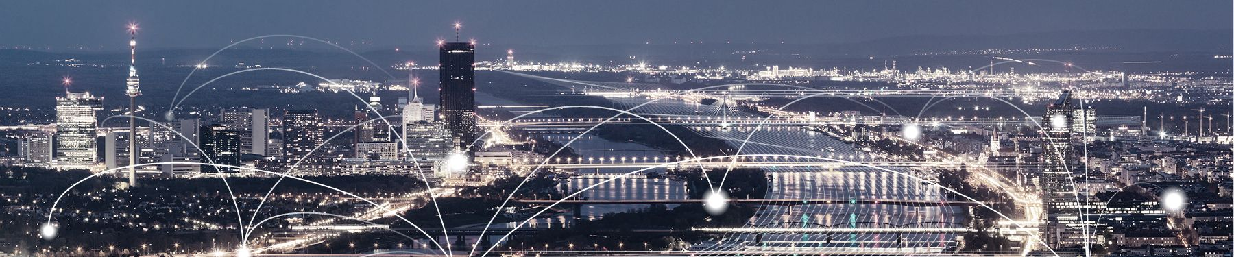 Vienna skyline night