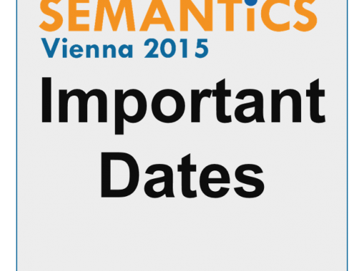 Semantics Conference Vienna 2015 Important Dates Social Grafic